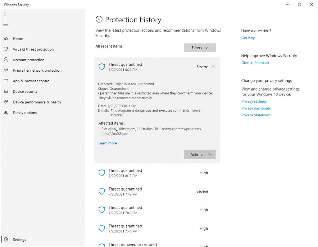 False Positve DeCSS.exe in Windows Defender